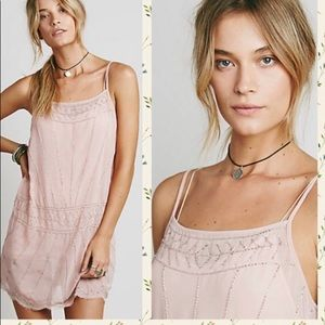 Free People pink Anabel beaded dress